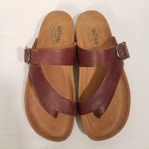 Eastland leather sandals/ memory foam footbed
